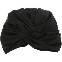 Alex Women Silk Blend Turban ($255) ❤ liked on Polyvore featuring accessories, hats, headwear, hair, black, turban hat and knot hat
