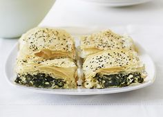 Australian Gourmet Traveller fast Greek recipe for spinach and feta tart