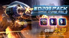 The ED209 Bundle is now available in the Shop for $14.99 for a limited time! Hit the arena Now! #mobilemoba Moba Legends, Mobile Game, Spaceship, Sci Fi, Shop, Sands, Space Ship, Science Fiction, Spacecraft