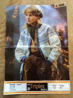 Knit Jacket, Sweater Jacket, Knitting Patterns, Crochet Patterns, Norwegian Knitting, Anna, Retro, My Love, Jumpers