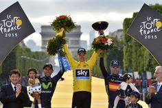 26.07 Chris Froome, Anglais élevé en Afrique, a rejoint le haut du podium du Tour de France, qu'il a remporté dimanche pour la deuxième fois en trois ans après avoir écrasé l'épreuve, suscitant critiques et réactions parfois hostiles.Photo: Stéphane Mantey