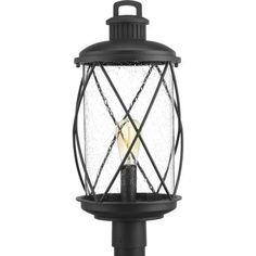The Hollingsworth Outdoor Post Lantern by Progress Lighting features a crisscross design that surrounds clear seeded glass, emulating popular farmhouse decor. Ideal for a variety of transitional exteriors when paired with either vintage or traditional bulbs. Includes wall and hanging options. Visit PatioProductsUSA.com to purchase now! #progresslighting #outdoorpostlantern #lightpost Lantern Post, Wall Lantern, Cool Lighting, Outdoor Lighting, Pathway Lighting, Porch Lighting, Landscape Lighting, Outdoor Decor, Thing 1