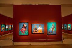 Installation view of David Hockney RA: 82 Portraits and 1 Still-life © David Parry/ Royal Academy of Arts