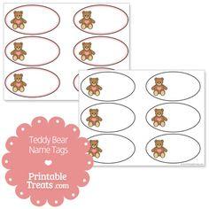 Free Printable Teddy Bear Name Tags