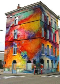 colorful painted building