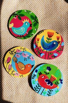 Small Canvas Paintings, Mini Canvas Art, Indian Art Paintings, Art Drawings For Kids, Art Drawings Sketches Simple, Coaster Art, Madhubani Painting, Art N Craft, Plate Art