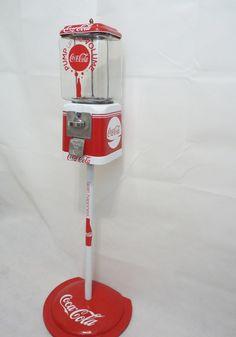 vintage Acorn gumball machine 10 cents Coca Cola glass globe + matching stand