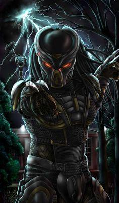 Predator Hunting, Predator Movie, Alien Vs Predator, Predator Cosplay, Batman Ninja, Alien Art, Xenomorph, Art Station, Dark Fantasy Art