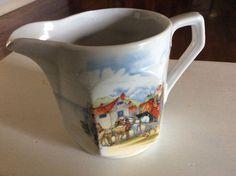 Milk Jug Creamer Collectable Vintage Retro Japan Horse Carriage Porcelain