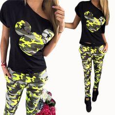 NIBESSER Tracksuit Women Mickey Cartoon Print T shirt Summer Short Sleeve Tops Full Pant Kawaii Femme Brand Clothing Set 2pcs z0  #cute #fashion #sweet #instafashion #dress #pretty #beauty #stylish #ootd #streetstyle