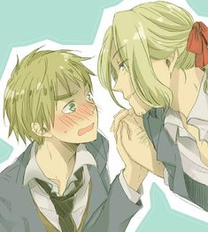 Hetalia (ヘタリア) - France x England (FrUK) - I ship USUK! , but this is still cute I guess << I don't. This picture is lovely though. Go FrUK!