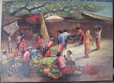 PASAR - oil on canvas, - 55 x 70 cm - Rp 850.000,- nego