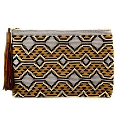 Wayuu Inspired Tapestry Crochet Clutch: