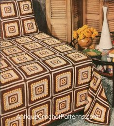 Bloquear Crocheted Colcha - Free Crochet Pattern