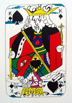 Salvador Dali, King of Spades