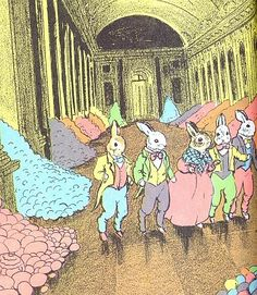 """The Country Bunny and the Little Gold Shoes"""" a children's book written in 1939 by Du Bose Heyward. An early feminist bunny!"""