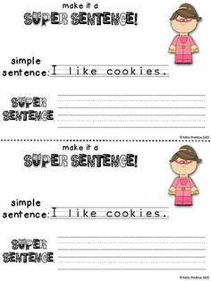 Invite me Please Super Sentences mini book
