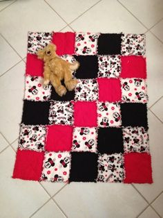 Disney's Minnie Mouse Baby Flannel Rag Quilt  | quiltsnjewelsbykaren - Children's on ArtFire