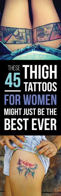 The 45 Best Thigh Tattoos You'll Ever See   TattooBlend