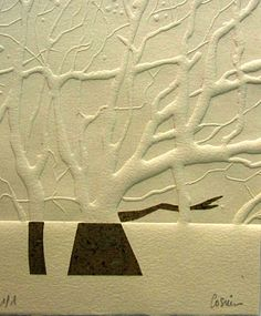 ISABEL COSIN- Gofrado--heavy embossing. In Japan the whole plate was deep etched, and no ink was applied.
