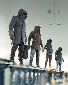 These hoodies look badass! Follow @9gag @9gagmobile #9gag #assasinscreed (credit: musterbrand)
