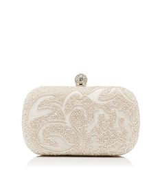 Peony Embellished Hard Case Clutch | Forever New $59.99