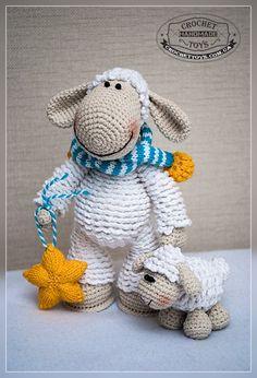 Вязаная овечка - Игрушки ручной работы