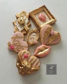 Pink Cookies, Fondant Cookies, Cute Cookies, Sugar Cookies, Cupcake Cakes, Valentines Day Cakes, Valentine Theme, Valentine Cookies, Be My Valentine