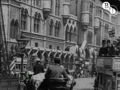 Traffic congestion in Edwardian London.    Made over 100 years ago, this footage shows a number of scenes shot around central London, taking in locations such as Hyde Park Corner, Parliament Square and Charing Cross Station. We see crowds of people disembarking from a pleasure steamer at Victoria Embankment, pedestrians dodging horse-drawn carriag...