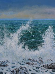 Buy Stormy Sea Spray, Acrylic painting by Sandra Francis on Artfinder. Discover thousands of other original paintings, prints, sculptures and photography from independent artists. Sea Spray, Water Spray, Seascape Paintings, Landscape Paintings, Acrylic Paintings, Glitter Wall Art, Gold Canvas, Canvas Art, Canvas Prints