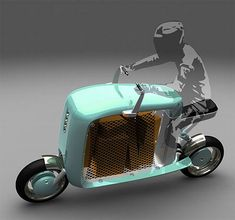 Cargo Scooter Concept is Moped With a Hole Scooters Vespa, E Scooter, Scooter Custom, Motorcycle News, Girl Motorcycle, Motorcycle Quotes, Dirt Bike Girl, Cargo Bike, Mini Bike