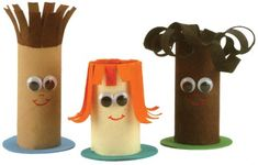 Make people and other characters out of toilet paper tubes. Older kids can make a stop-motion animation with their characters.