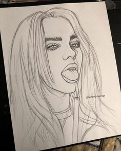 Yes I have another Billie drawing in the works.. and Im finishing up my drawing of Aurora too ???? they are my favorite singers . . #drawing #billie #eilish #drawing
