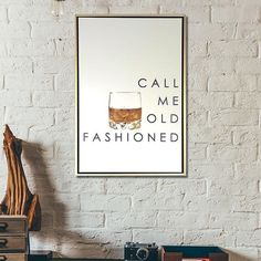 Our perennial favorite Call Me Old Fashioned print is now our most popular design available in a canvas. My Pool, First Home, Humble Abode, Game Room, My Dream Home, Cool Stuff, Basement, Family Room, Home Improvement
