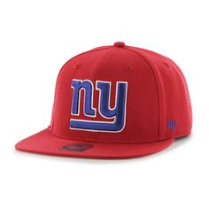 low priced 399a5 a88cf New York Giants Super Shot Captain Red 47 Brand Adjustable Hat