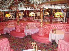 fashion story: The pink dining room hosts many exciting and romantic dinner affairs.