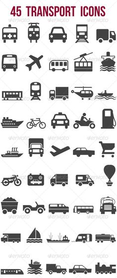 45 Transport Icons #GraphicRiver 45 Transport icons include illustrator ai, eps 10 and jpg files. These are good for web, mobile and print applications. Illustrator ai and eps 10 files are fully editable. You can change the size, rotation, angle of the paths by going to the layers panel or appearance panel for changing the fills and strokes. Created: 16July13 GraphicsFilesIncluded: JPGImage #VectorEPS #AIIllustrator HighResolution: No Layered: Yes MinimumAdobeCSVersion: CS PixelDimensions…