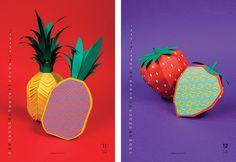 Nearly Normal's hilarious papercut fruit calendar