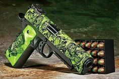 Zombie Hydro Dipped 1911