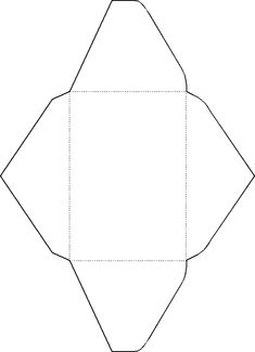 Template for making a mini envelope - great for gift cards.