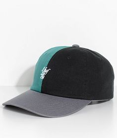 3290d43b25594 HUF Country Club Black   Green Strapback Hat