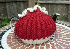 Hand Knitted Tea cosy by LittleDaisyKnits on Etsy