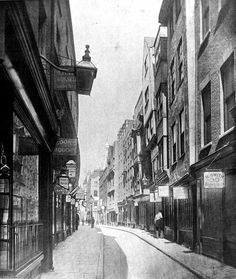 Holywell St. – where Bush House is now – was lined with bookshops and stalls, many of which specialised in naughty titles, and publishers' offices. 1901