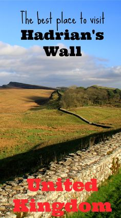 Hadrian's Wall is the boundary built by the Romans between conquered England and unconquered Scotland and this Unesco World Heritage Site is amazing to visit. But it is quite long so where is the best place to visit Hadrian's Wall? Housesteads Roman Fort is a short detour from the M1 and is one of the best places to see Hadrian's Wall intact. There's an excellent visitor centre and plenty of information. You really get a great impression of what it must have been like here in Roman times.
