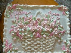 beautiful - Flower Basket Sheet Cake In Cakes By Kim Brittenburg