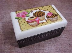 Tea box. 3d decoupage, Shabby Chic. $30.00, via Etsy.