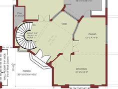 House Floor Plan- 1 kanal House