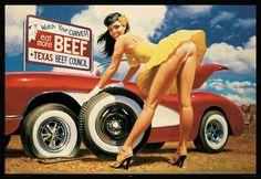Large 91cm Pop Art Poster New Yellow Rose Good Girl Pin Up Hildebrandt Hot Rod £5.99