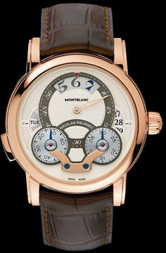Montblanc lança o cronógrafo Nicolas Rieussec Rising Hours Best Watches For Men, Fine Watches, Luxury Watches For Men, Cool Watches, Nixon Watches, Swiss Watches For Men, Casual Watches, Bracelet Nato, Bracelet Cuir