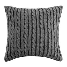 A cozy cable knit pillow is perfect for cool nights on the couch